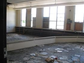 Photo of Interior Gutting of School Classroom (Before)