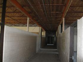Photo of Interior Gutting of School Hallway (After)