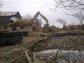 Photo of Demolition of an Old Barn