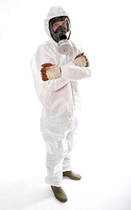 Photo of asbestos removal contractor