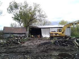 Photo of a Old Barn Demolition in Oakville