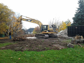 Photo of a Residential House Demolition in Stoney Creek