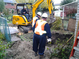 Photo of an Underground Storage Tank Removal in Waterloo